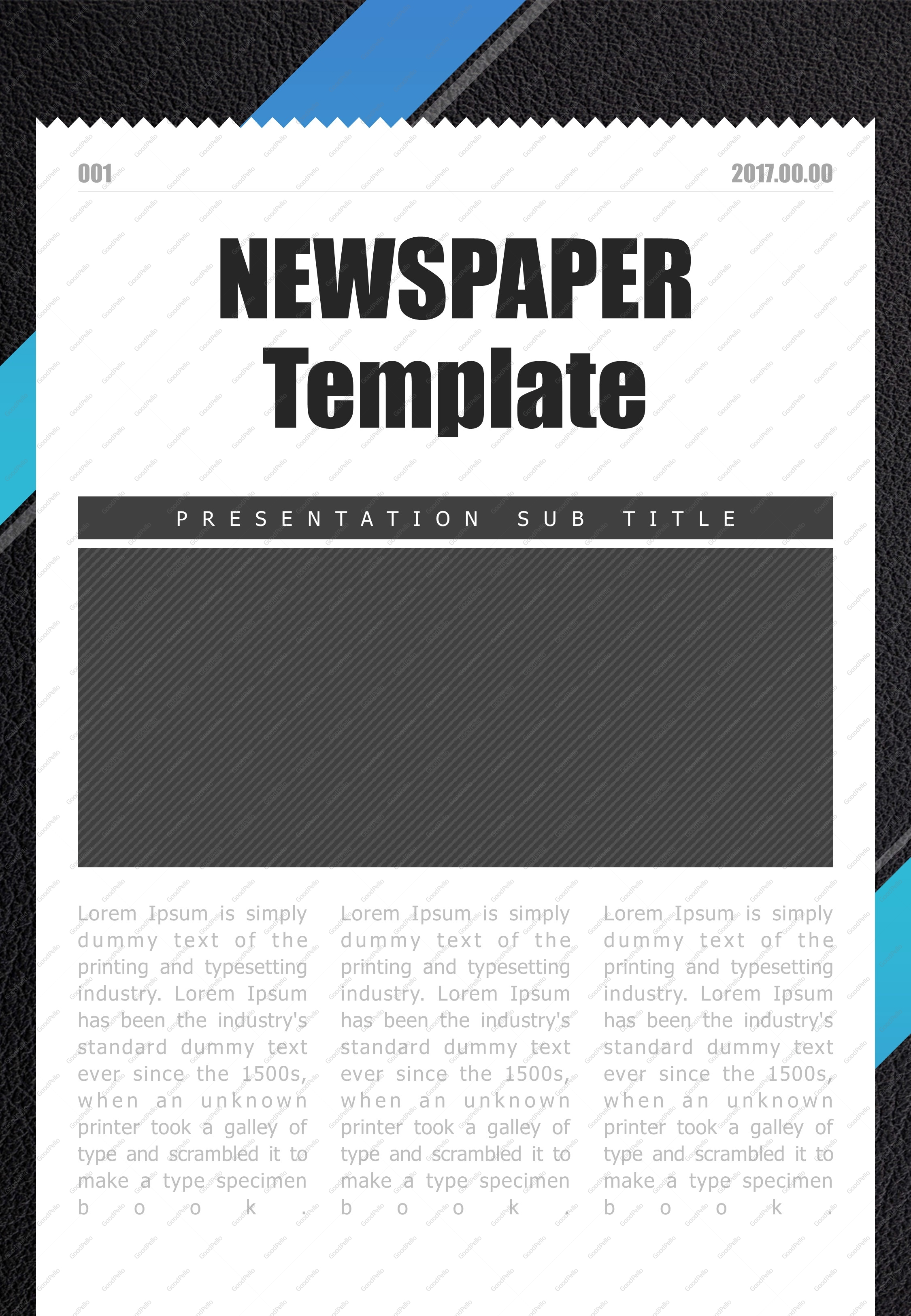Newspaper powerpoint template vertical goodpello newspaper powerpoint template vertical toneelgroepblik Choice Image
