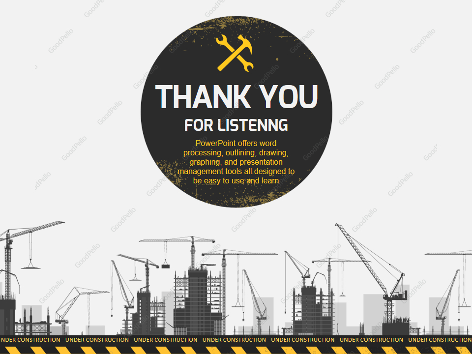 Under Construction PowerPoint Template – Goodpello