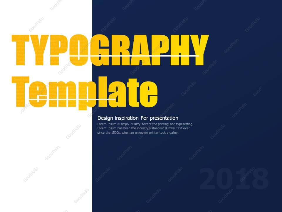 Typography PPT Template – Goodpello