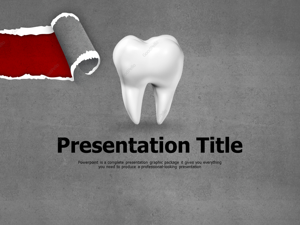 Dental Caries Animated Ppt 고퀄리티 프레젠테이션 템플릿