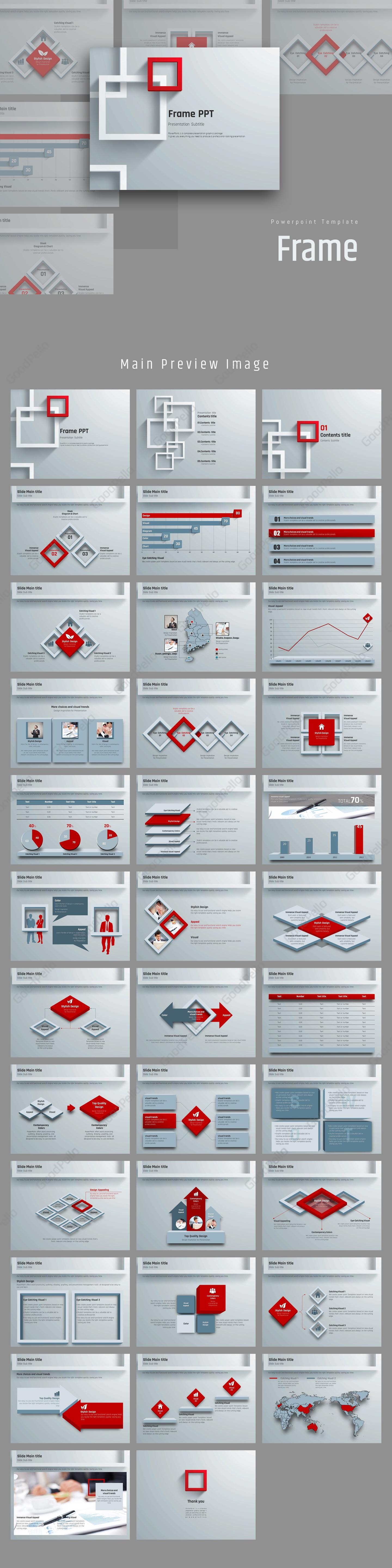 Frame Animated Powerpoint Template 고퀄리티 프레젠테이션 템플릿 굿펠로