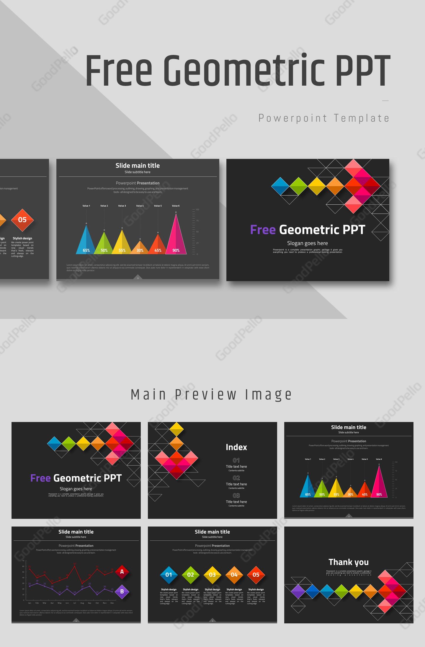Free Geometric Powerpoint Template 고퀄리티 프레젠테이션 템플릿 굿펠로