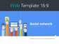 Social Network PowerPoint Wide