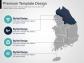 심플 한국 지도 1