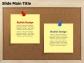 Bulletin Board Post-it Text Box
