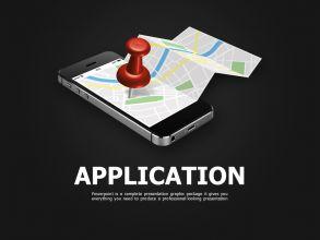 네비게이션 앱 소개 피피티 템플릿