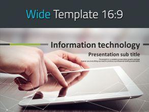 정보 통신 기술 와이드 파워포인트 템플릿