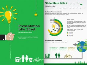 Energy PowerPoint Template Vertical