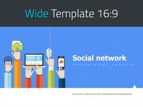 소셜 네트워크 와이드 피피티 템플릿