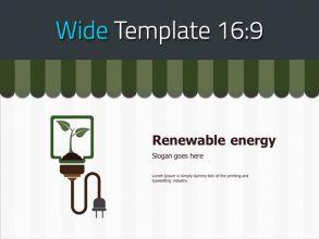 재생 에너지 와이드 파워포인트