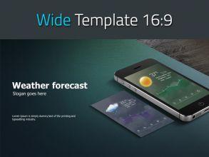 일기예보 어플리케이션 와이드 피피티 템플릿