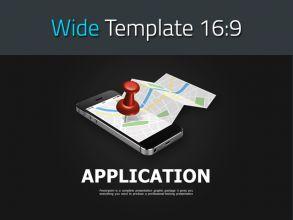 네비게이션 앱 소개 와이드 피피티 템플릿