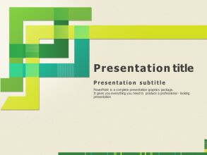 Line Theme PPT Template