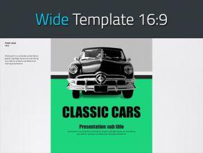 자동차 와이드 피피티 템플릿