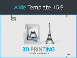 3D 프린팅 소개 와이드 피피티 템플릿