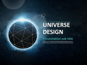 space powerpoint template wide | goodpello, Powerpoint templates
