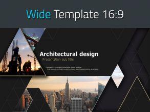 건축설계 와이드 피피티 템플릿