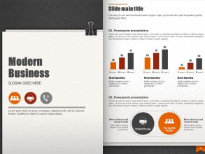 Modern Business Template Vertical