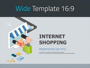 온라인 쇼핑 와이드 PPT
