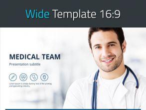 의학 와이드 피피티 템플릿