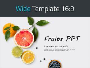 과일 와이드 피피티 템플릿