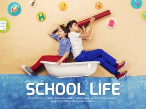 즐거운 학교생활 파워포인트 템플릿