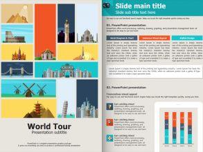 세계여행 세로형 파워포인트 템플릿