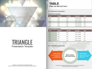 Triangle PPT Template Vertical