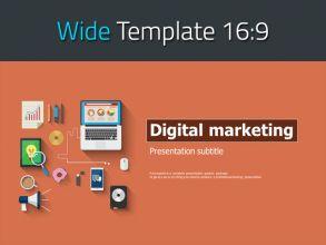 디지털 마케팅 와이드 피피티 템플릿