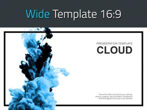 구름 와이드 파워포인트 템플릿