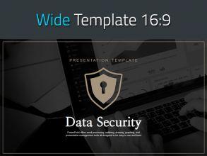 정보 보안 와이드 프레젠테이션 템플릿
