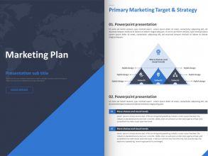 블루 표준 마케팅 기획서 세로형 템플릿