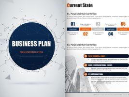 비즈니스 계획 세로형 피피티 템플릿