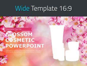 꽃 화장품 와이드 파워포인트 템플릿