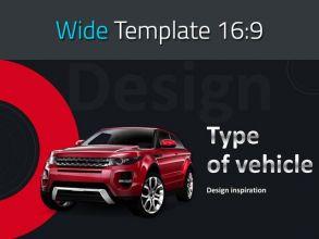 자동차 종류 와이드 템플릿