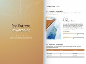 Dot Pattern PowerPoint Template Vertical