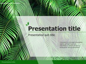 자연 숲 프레젠테이션 템플릿