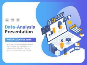 데이터 분석 프레젠테이션 템플릿