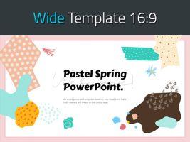 봄 파스텔 와이드 파워포인트 템플릿