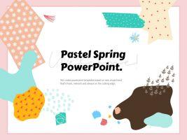 봄 파스텔 파워포인트 템플릿
