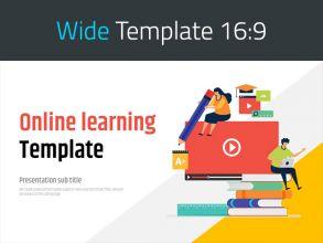 온라인 수업 와이드 템플릿