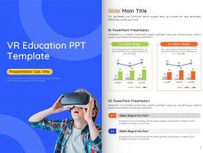 VR 교육 피피티 세로형 템플릿