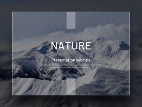자연 템플릿