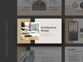 건축 설계 디자인 와이드 템플릿